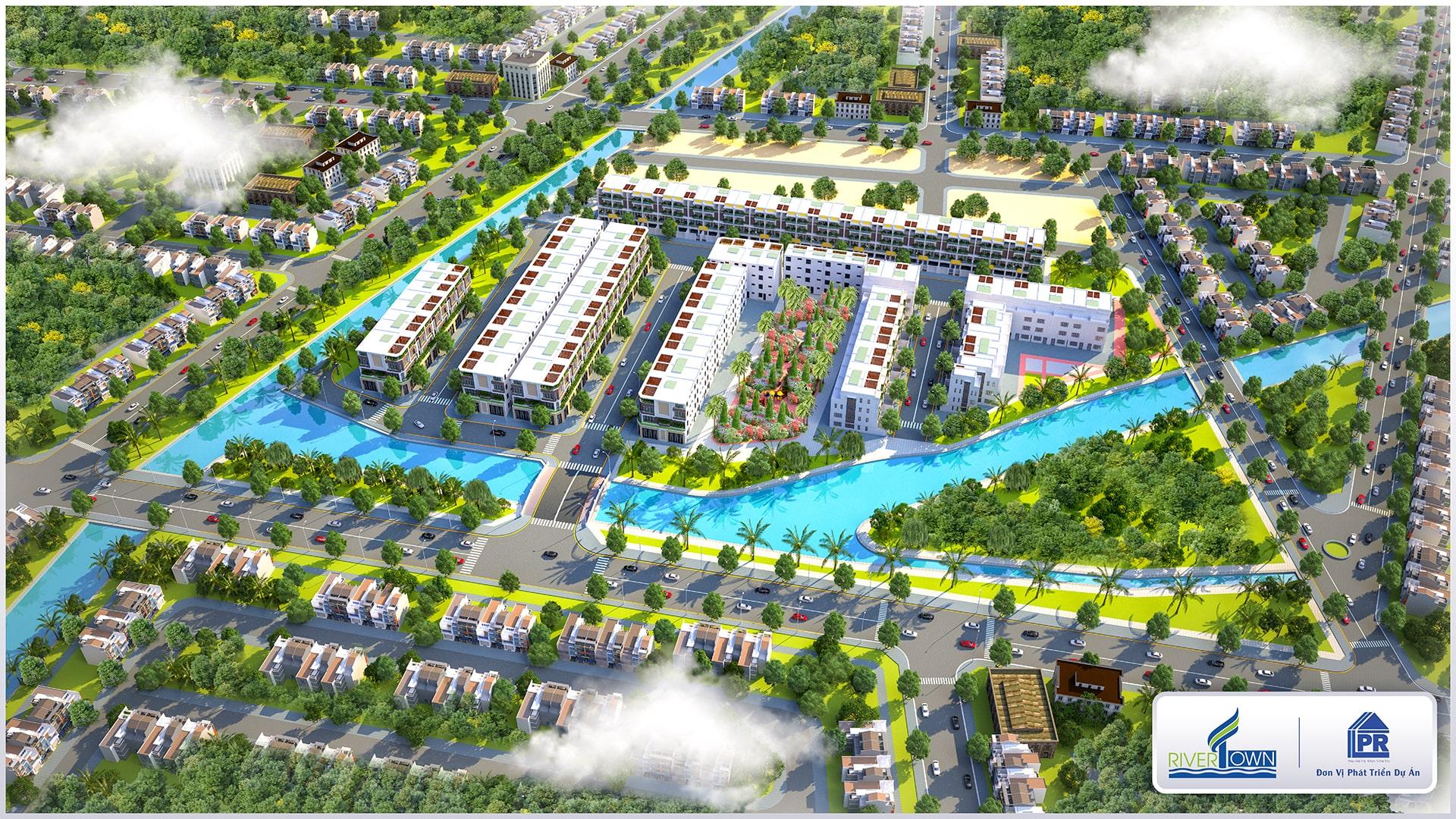 Phối Cảnh Tổng Thể Dự Án River Town Củ Chi