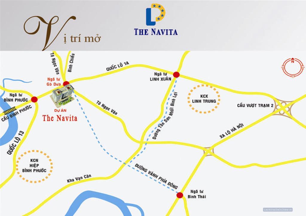 vị trí căn hộ the navita