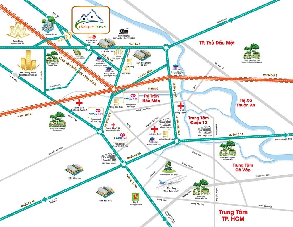 Vị trí Tân Quy Town