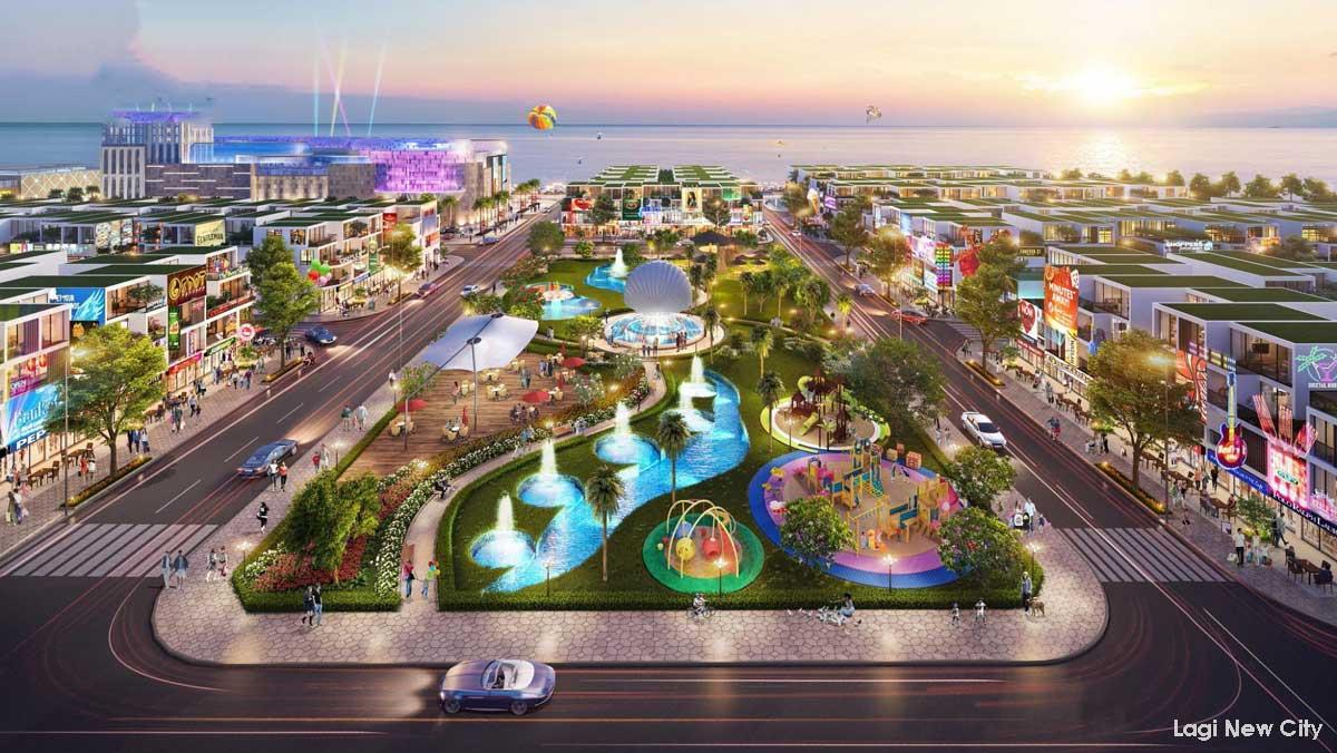 Tiện ích Công viên Biển tại Dự án Phức hợp Đô thị Thương mại Dịch vụ & Du lịch Biển Lagi New City