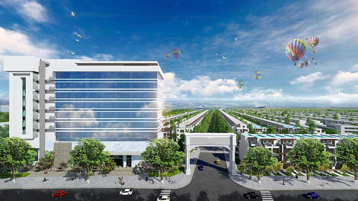 Cổng Dự án Fenix City Hậu Giang
