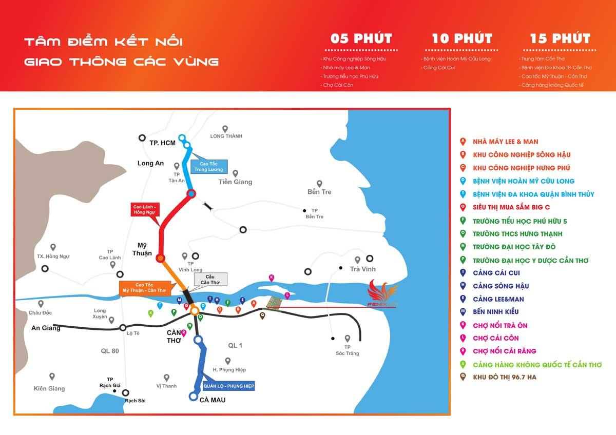 Vị trí Dự án Fenix City Hậu Giang