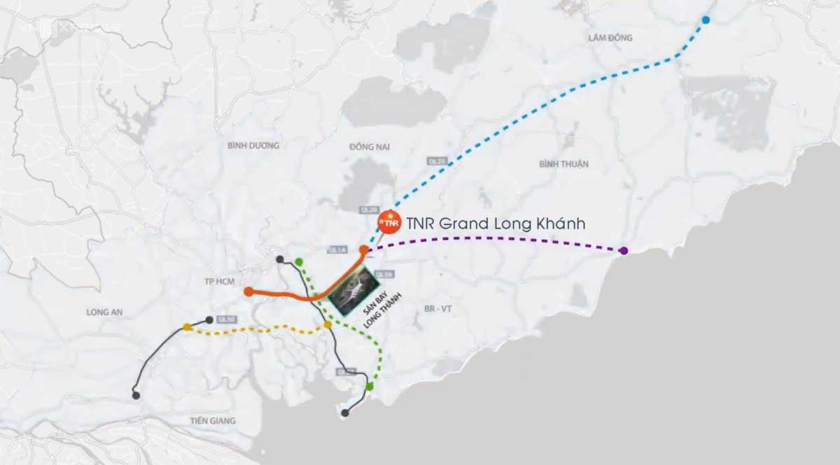 Vi tri du an TNR Grand Long Khanh - TNR Grand Long Khánh